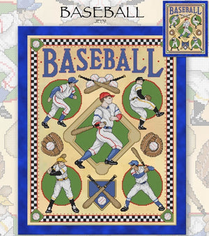 Baseball Cross Stitch Pattern