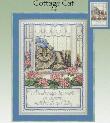 Cottage Cat Cross Stitch Pattern