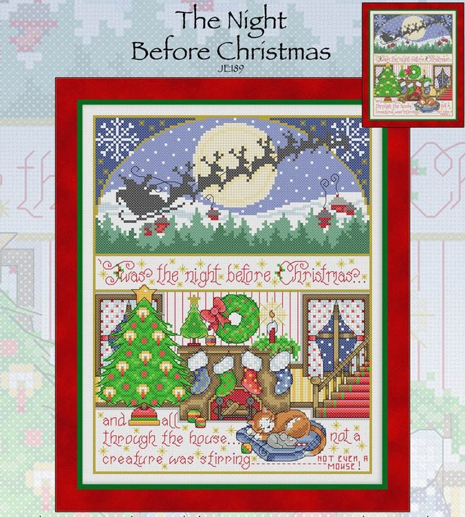 The Night Before Christmas Cross Stitch Pattern