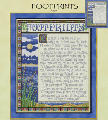 Footprints Cross Stitch Pattern