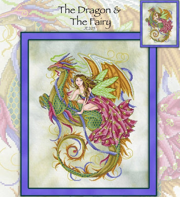 The Dragon and Fairy Cross Stitch Pattern