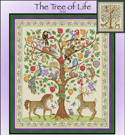 The Tree of Life Cross Stitch Pattern