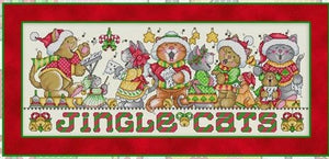 Jingle Cats Cross Stitch Pattern