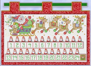 Santa and Friends, Advent Calendar Cross Stitch Pattern