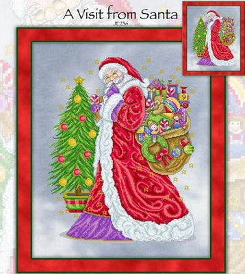 A Visit from Santa Cross Stitch Pattern