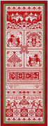 Christmas Redwork Collection Cross Stitch Pattern