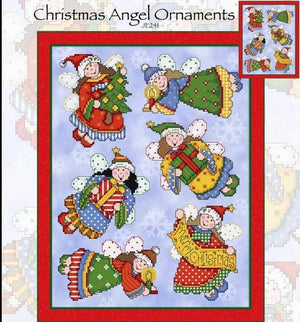 Christmas Angel Ornaments Cross Stitch Pattern