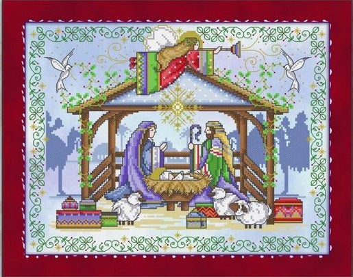 Holy Night Cross Stitch Pattern