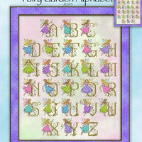 Fairy Garden Alphabet Cross Stitch Pattern
