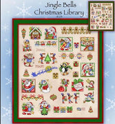 Jingle Bells Library Cross Stitch Pattern