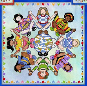 Around the World Cross Stitch Pattern