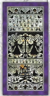 All Hallow's Eve Sampler Cross Stitch Pattern