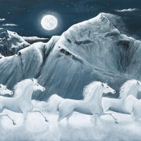 Moonlight Horses Cross Stitch Pattern