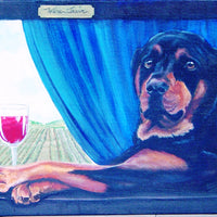 Rottweiler Red Cross Stitch Pattern