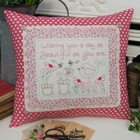 Birthday Wishes Cushion Pattern