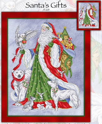 Santa's Gifts Cross Stitch Pattern