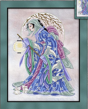Winter Geisha Cross Stitch Pattern