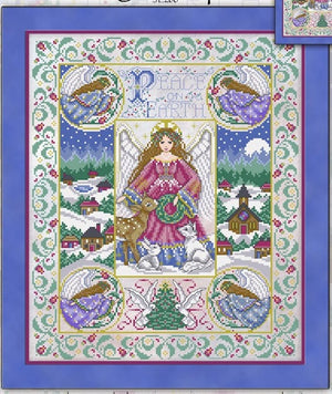 Peace on Earth Christmas Cross Stitch Pattern