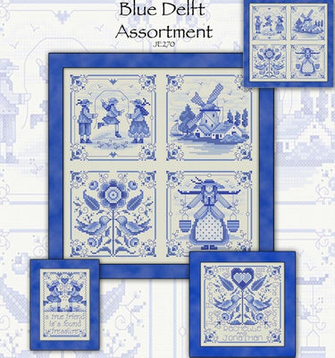 Blue Delft Assortment Cross Stitch Pattern
