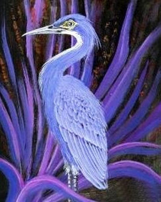 Blue Heron Cross Stitch Pattern