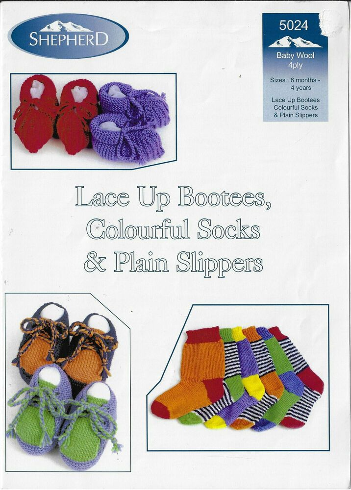Bootees, Socks and Slippers Knitting Patterns