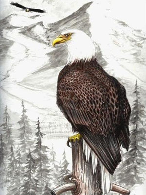 Eagle Perch Cross Stitch Pattern