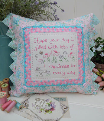 Happy Birthday Cushion Pattern
