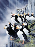 Puffin Views Cross Stitch Pattern