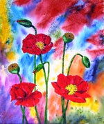 Space Poppies Cross Stitch Chart