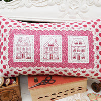 Village Shops Cushion Pattern
