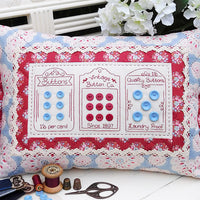 Vintage Buttons Cushion Pattern