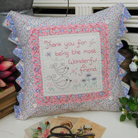 Wonderful Friend Cushion Pattern