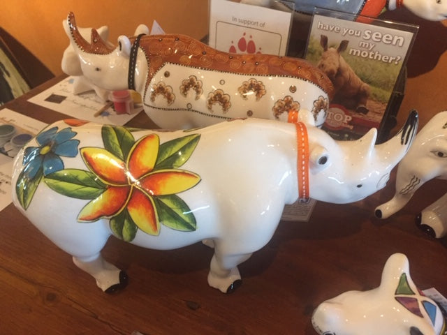 Large Ceramic Rhinos -