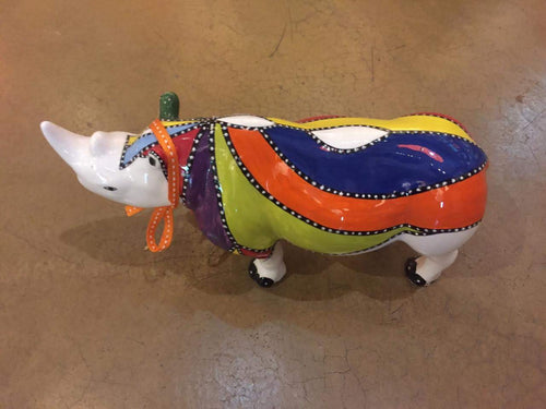 Large Ceramic Rhino -