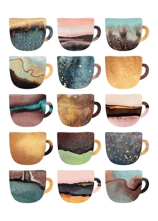 Pretty earthy coffee cups