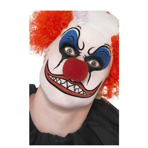 Clown Make-Up Kit, includes Facepaint, Nose, Crayons and Sponge