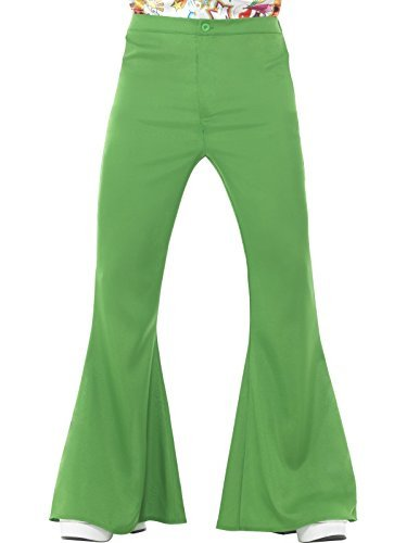 "Flared Trousers, Mens, Green -  (Size: Chest 46""-48"")"