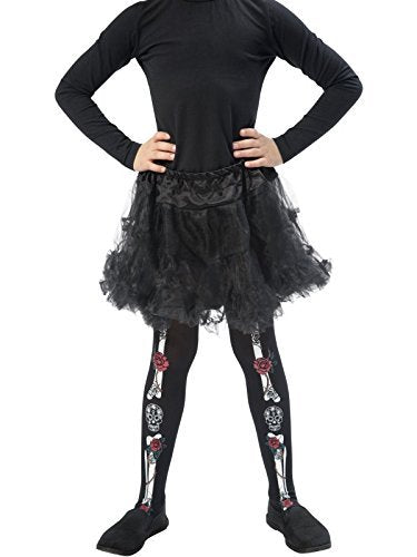 Day of the Dead Tights, Child, Black -  (Size: Small/Medium Age 4-7)