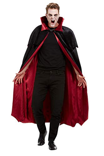 - Deluxe Vampire Cape, Black, Velour with Red Lining