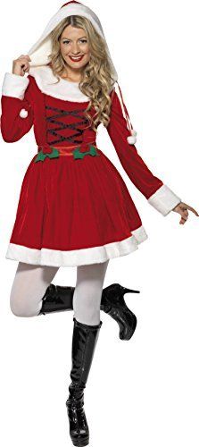 Miss Santa Costume, Red, with Dress -  (Size: UK Dress 16-18)