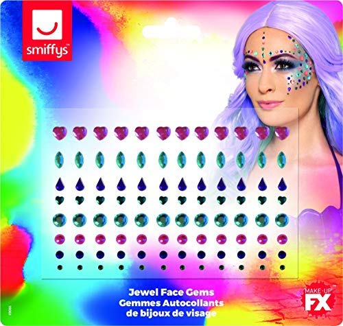 `Jewel Face Gems, Assorted Colours, Sheet of 100`