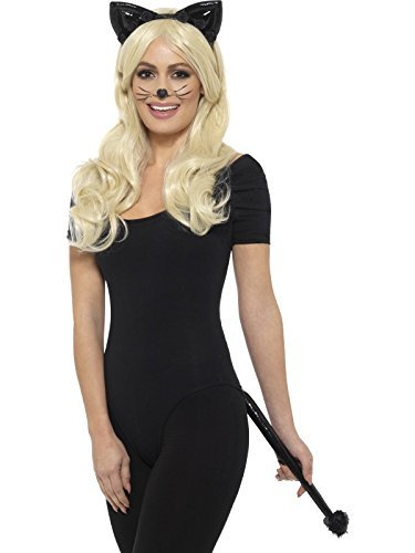 Deluxe Cat Kit, Wetlook, Black, with Headband & Tail