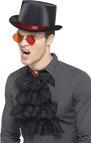 Gothic Kit, Red & Black, with Top Hat, Glasses & Neck Ruffle