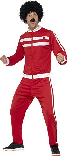 "Scouser Tracksuit, Red & White, with Jacket & Trousers -  (Size: Chest 46""-48"")"