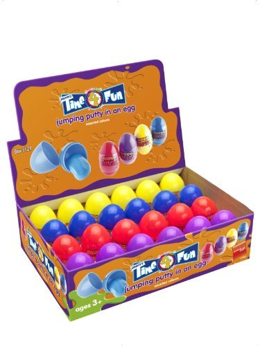 Jumping Putty in an Egg, Assorted Colours, 24