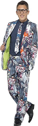 Zombie Suit, with Jacket, Trousers & Tie -  (Size: Teen S)