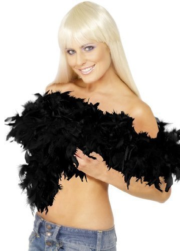 Deluxe Boa, Black, Feather, 180cm, 80g