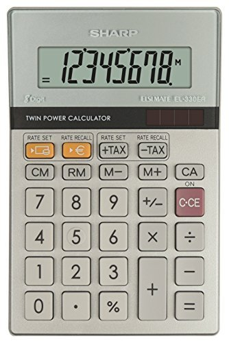 - Sharp Calculator D/Top EL330ERB