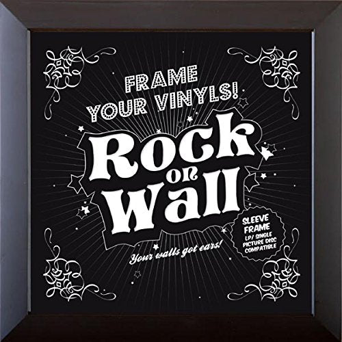 Music Protection - 12 Inch Album Cover Frame Plastic - Black - Rock On Wall