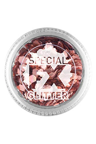 Smiffys Make-Up FX, Rose Gold, Confetti Glitter,2g, Loose